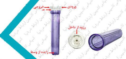 ساختار و ابعاد هوزینگ مورد استفاده در دستگاه تصفیه آب خانگی شورآکوا